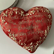 Red Heart Cushion Mother Daughter Sentiment Pillow