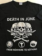 DEATH IN JUNE From Nowhere To Nothing Neo Folk Post Punk T-shirt Mens Small P2