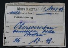 Alte Fahrkarte Personenzug Bückeburg 1944