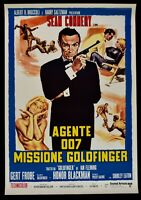Poster Agent 007 Goldfinger Sean Connery Ian Fleming Gert Frobe P01