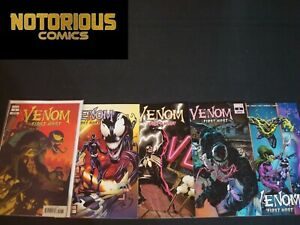 Venom First Host 1-5 Complete Comic Lot Run Set Marvel 1st Sleeper Collection