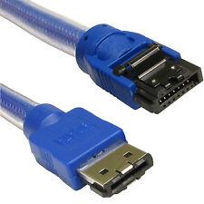 1.5 m Medidor Esata A Sata S-ata 3 Blindado De 6 Gb serial ATA 3.0 Cable Azul 6 Gig