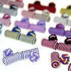 Lot of 5 Pairs Cufflinks Cuff Links Silk Knot Wedding Party Shirt Cylinder CSP2