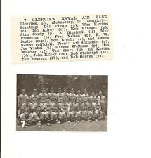 Glenview Naval Air Base Illinois 1953 Baseball Team Picture