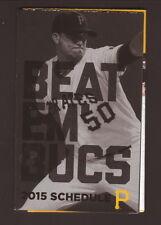 Charlie Morton--2015 Pittsburgh Pirates Pocket Schedule--Xfinity