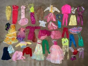 Vintage 1980s and 1970s Large Lot of Barbie Dolls, Clothes, accessories