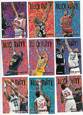 1995-96 Hoops Block Party Insert Set of 25 Cards