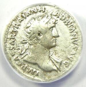 Roman Hadrian AR Denarius Silver Coin 117-138 AD - Certified ANACS VF20