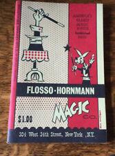 Vintage Magic Catalog Flosso-Hornmann Magic Company