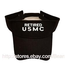 RETIRED USMC MARINE SUN VISOR MILITARY LAW ENFORCEMENT