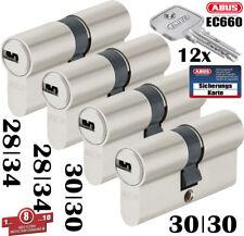 4x Zylinder Abus Schließanlage EC660 Wendeschlüssel Gleichschließend mit Karte