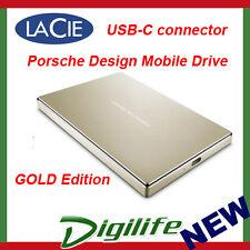 "LaCie Porsche Design 2TB 2.5"" USB 3.1 Type C Mobile HDD USB-C GOLD STFD2000403"