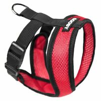 Gooby Fully adjustable Choke Free Comfort X Soft Harness, Red Size Small - Large