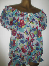 Hips Synthetic Floral Tops & Blouses for Women