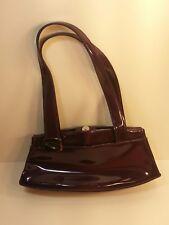 Guess Purple Patent Leather Handbag  Bag Purse EUC