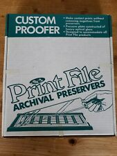 Print File Archival Preservers Custom Proofer - Excellent Condition w/ Brochure