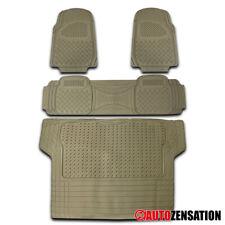 4x Heavy Duty Truck SUV All Weather PVC Beige Floor Mats Front+Rear