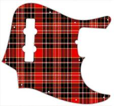 J Jazz Bass Pickguard Custom Fender Graphic Graphical Guitar Pick Guard Tartan 4
