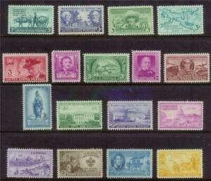 COMPLETE US COMMEM STAMPS 1949-1950 Mint NH