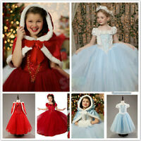 Halloween Cosplay Costume Elsa Anna Dress Princess Party Fancy Kids Girl Dresses