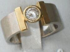 JUGENDSTIL SILBER 585er GOLD RING BERGKRISTALL SUPER DESIGN