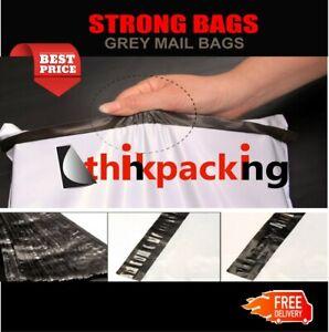 Premium Strong WHITE Virgin Plastic Mailing Postal Poly Pack Postage Grey Bag UK