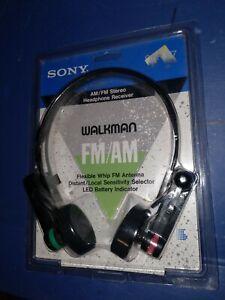 Sealed Sony Walkman FM AM Sliding Flexible headphones LED headset Srf-r7