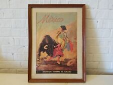 Mexico Direccion General De Turismo Framed Advertising Poster Signed
