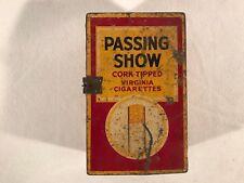 Vintage Passing Show English Cork Tipped Virginia Cigarette Litho Tin Box