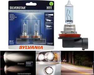 Sylvania Silverstar H11 55W Two Bulbs Head Light Low Beam Replace Upgrade Lamp