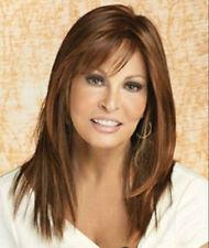 WJIA906 fine charming long brown red mix straight wigs for modern women's wig