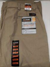Wrangler Riggs Workwear Pants 18 Work Flat Front Khaki Brown Cotton NWT