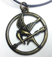 The Hunger Games Mockingjay Antiqued Bronze Pendant Cord Necklace-Lionsgate(LGF)