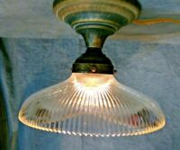 "Holophane Design Shade 8"" X 2 1/4"" Glass Globe Pendant, Fan Lamp Fixture"