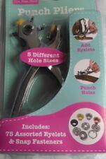 5 diferentes agujero Alicates Hand Held Perforadora billete Craft Ponchador De Corte De Metal