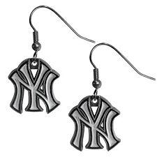 New York Yankees Dangle Earrings (Zinc) MLB Licensed Jewelry