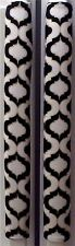 Refrigerator Oven Door Padded Handle Covers Scroll Black White Set of Two