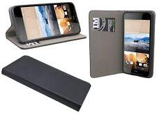 HTC Desire 830 // Pieghevole Custodia Libro Borsa accessori bumper case in nero