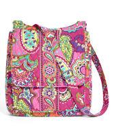 Vera Bradley PINK SWIRLS Crossbody Bag Hipster Zip Adjustable Strap Tote NWOT