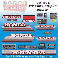 1985 Honda ATC 250ES Big Red Reproduction 22 Pc Vinyl Decals Three Wheeler