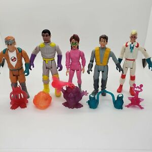 Vintage 1987 Ghostbusters FRIGHT FEATURES - Lot of 5 Figures AND Ghosts RARE SET