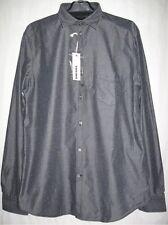 BNWT Diesel S-Nami Slim Fit Men's Shirt  Front Button. Grey/ Black, RRP £110, M