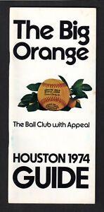 1974  HOUSTON ASTROS  MEDIA PRESS GUIDE  EX-MINT