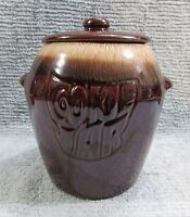 Vintage McCoy USA Pottery Cookie Jar Brown Drip Glaze 7024 Excellent! FREE S/H