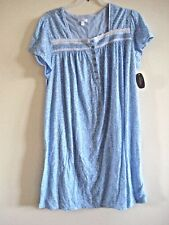 Ladies Nightgown Blue Print  Size XL