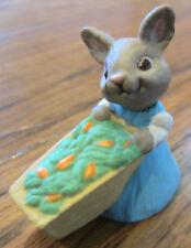 Hallmark Merry Miniatures Bunny With Carrots From The Garden 1990