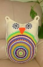 Colorful OWL PILLOW  kids baby nursery bedroom decor handmade gift cushion toy