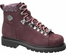 Harley-Davidson Women's AKERS Rubber outsole leather BURGUNDY Boots D84550