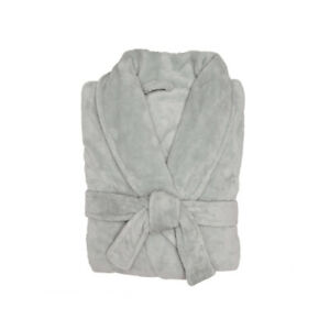 Bambury Microplush Super Soft Unisex Bathrobe - Silver