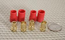 1) PAIR OF PRC8 8mm BULLET BATTERY CONNECTORS RATED TO 300 AMPS USA SELLER